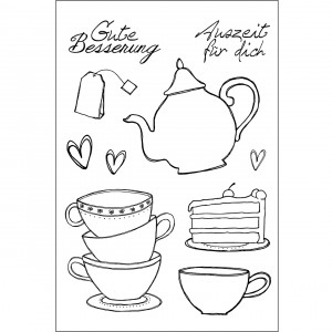 Stempel Clear, Tee / Kaffee, A7, 10 - teilig, transparent