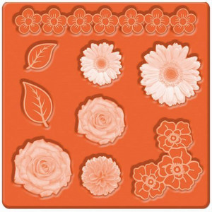 Mod Podge, Mod Mold Flowers, 95 x 95 mm 9 Designs