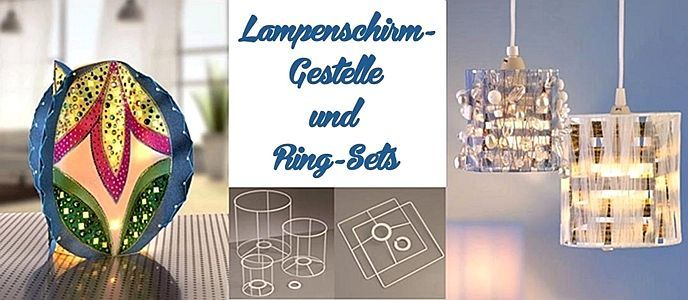 lampenschirm gestelle und ringsets lampenschirm gestell. Black Bedroom Furniture Sets. Home Design Ideas